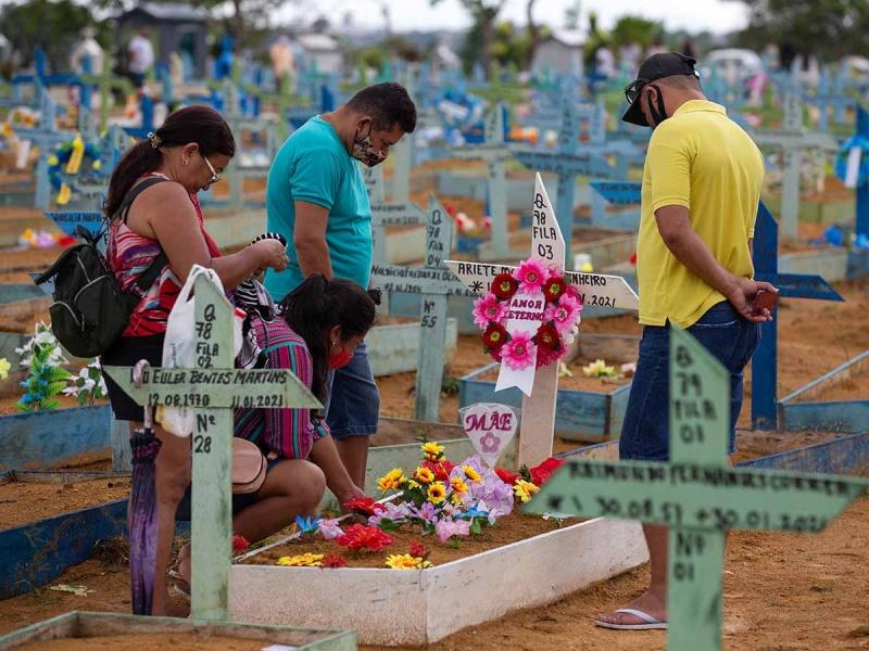 Brasil reporta 25 mil 200 nuevos casos de covid en 24 horas