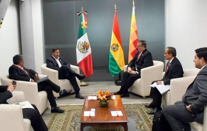 Marcelo Ebrard aprovecha la investidura de Pedro Castillo en Perú para dialogar con presidentes de Sudamérica